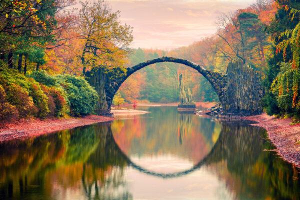 Deutschland Kromlau Rakotz Brücke