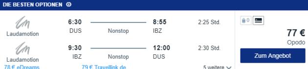 Düsseldorf nach Ibiza