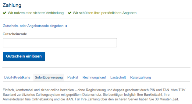 Screen Expedia Bezahlung