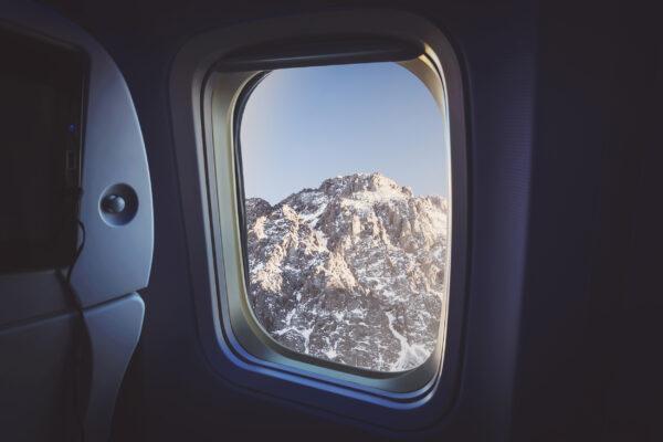 Flugzeug Aussicht Berge