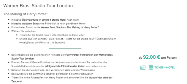 Harry Potter London Angebot