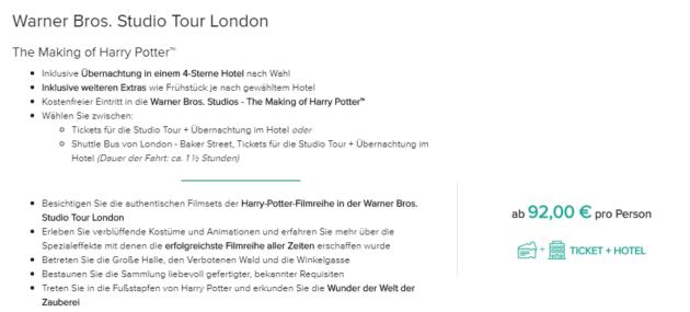 Harry Potter London Angebot