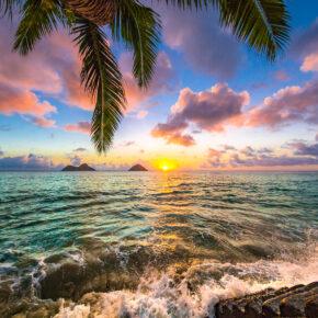 Hawaii Lanikai Sonnenuntergang