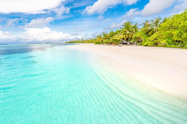 Malediven Strand Meer blau