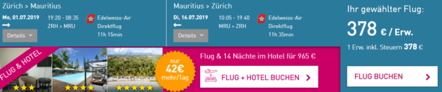 Mauritius Flüge
