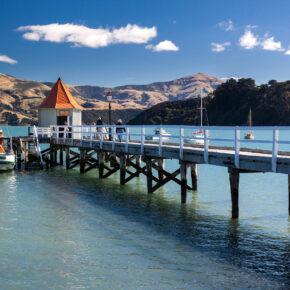 Neuseeland Christchurch Akaroa STadt