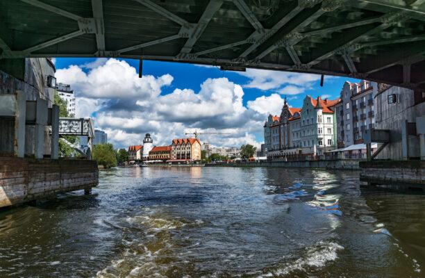 Russland Kaliningrad Fluss