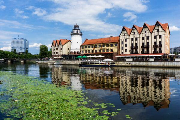 Russland Kaliningrad Haeuser