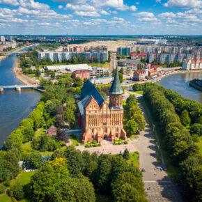 Russland Kaliningrad von oben