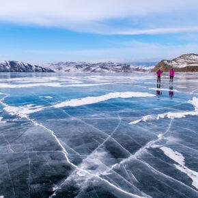 Russland Winter See