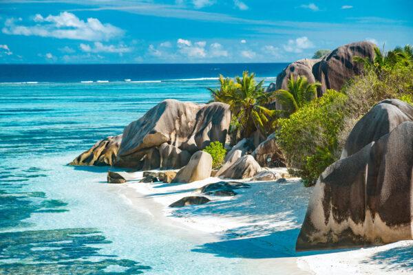 Seychellen Felsen Meer