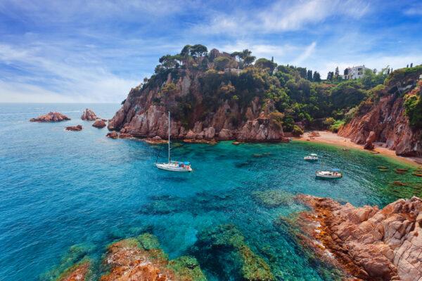 Spanien Costa Brava Felsen Bucht