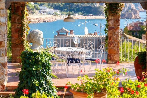 Spanien Costa Brava Tossa de Mar Terrasse