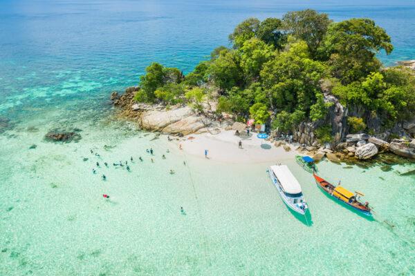 Thailand Koh Rok oben Boote