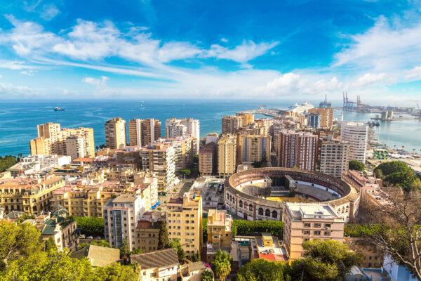Spanien-Malaga-aerialview
