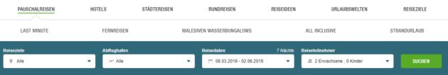 Suchmaske Jahn Reisen