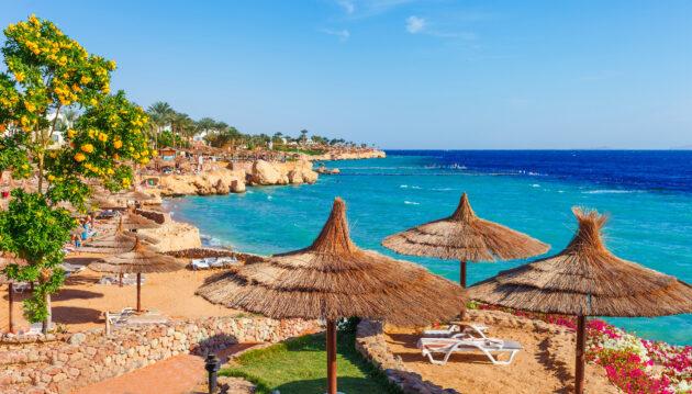 Ägypten Sharm el Sheikh Sonnenschirme