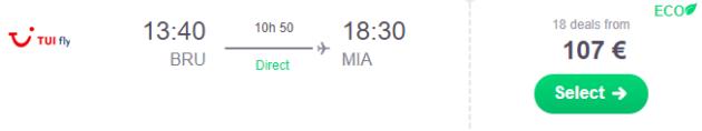 Brüssel nach Miami