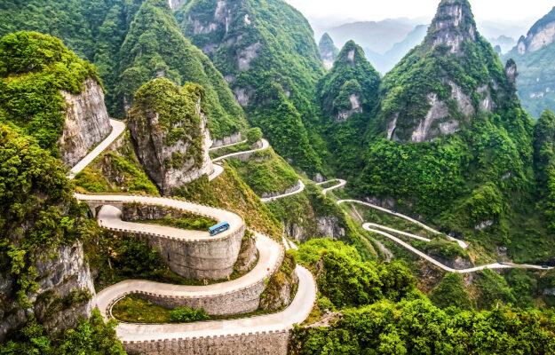 China Berge Straße