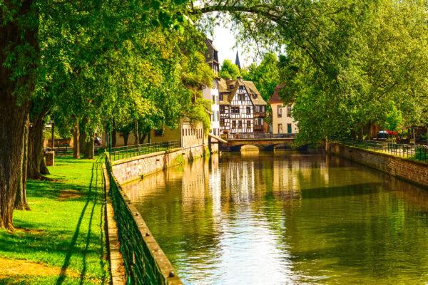 Frankreich Straßburg Kanal