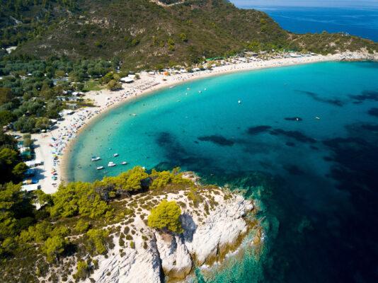 Griechenland Chalkidiki Küste oben