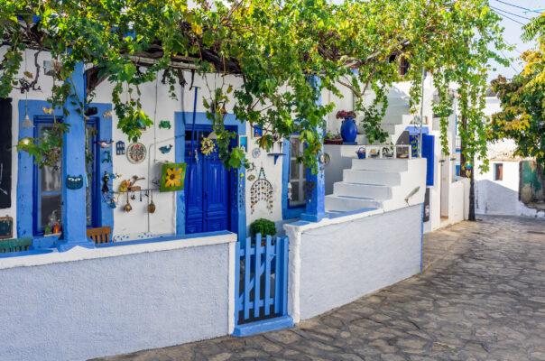 Griechenland Lipsi Fassade