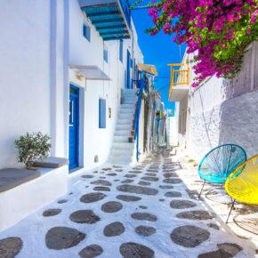 Griechenland Mykonos Strasse