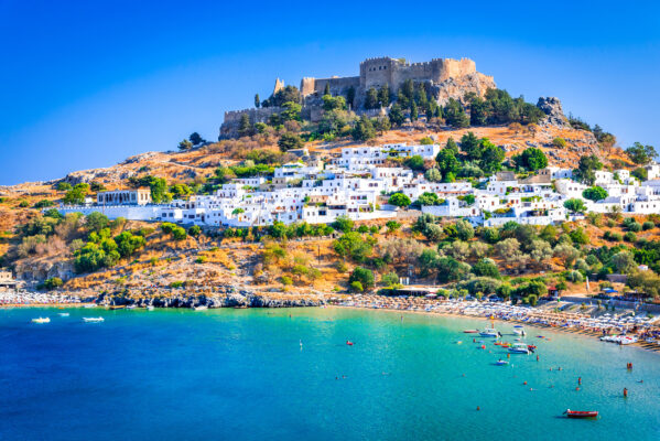 Griechenland Rhodos Lindos Acropolis