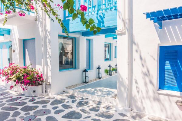 Griechenland Santorini Häueser Gasse