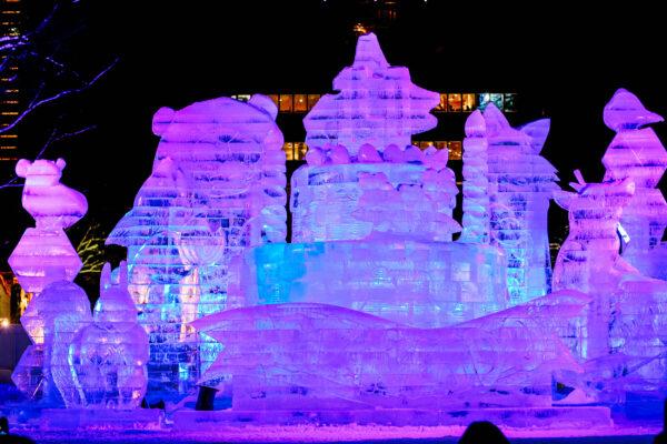 Japan Yhokaido Snow Festival