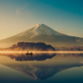 Japan Mount Fuji Sonnenaufgang See