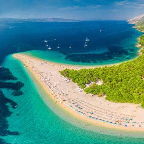 Kroatien Brac Zlatni Rat Beach