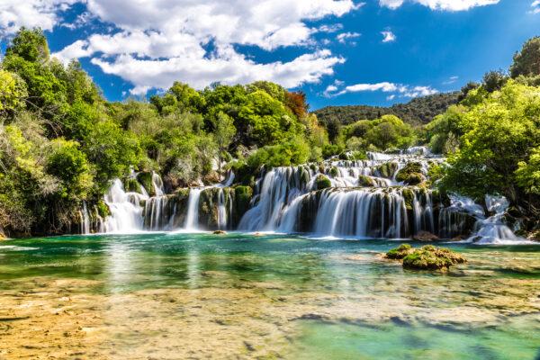 Kroatien Krka Nationalpark Skradinski Buk Wasserfall