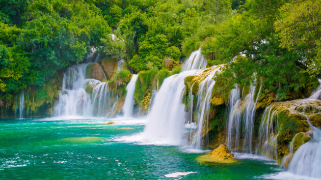 Kroatien Krka Nationalpark Wasserfälle