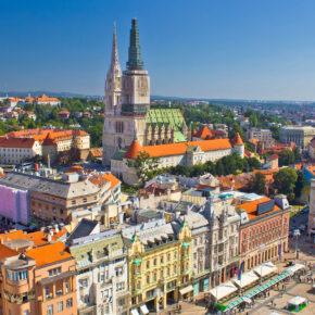 Kroatien Zagreb Aussicht