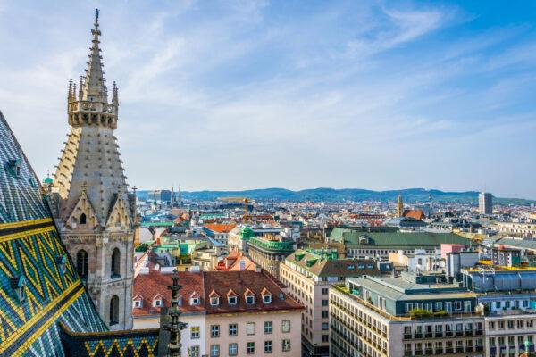 Österreich Wien Stephansplatz oben