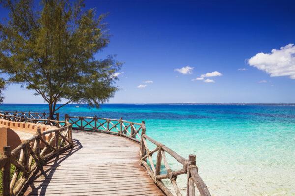 Sansibar Holzsteg Meer