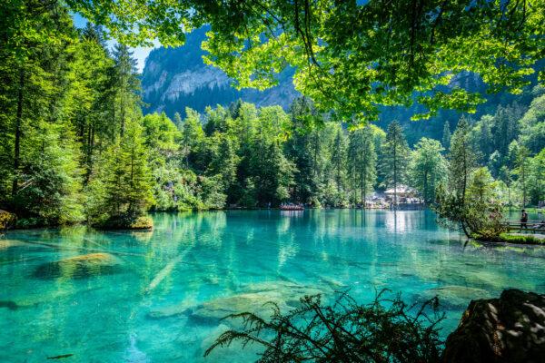Schweiz Blausee. See