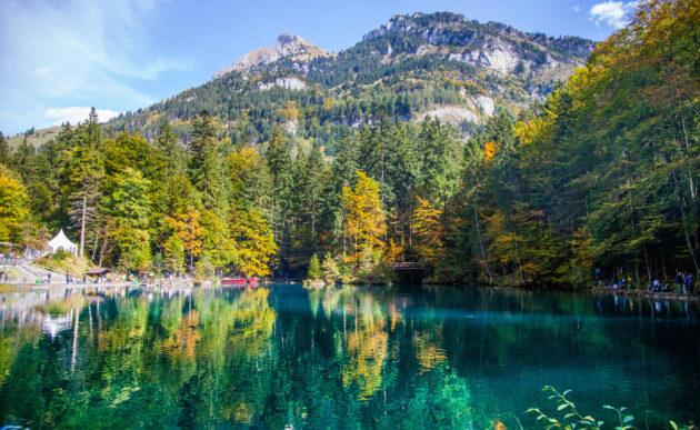 Schweiz Kandersteg Blausee