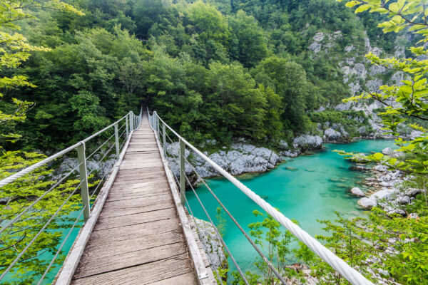Slowenien Soca Brücke