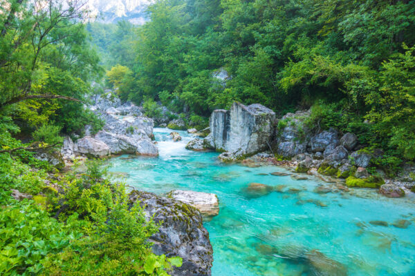 Slowenien Triglav Nationalpark Fluss