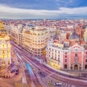 Wochenende in Madrid: 3 Tage mit zentraler Unterkunft & Flug für 83€