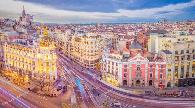 Spanien Madrid Aussicht Häuser