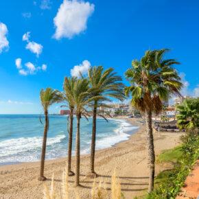 Spanien Malaga Promenade