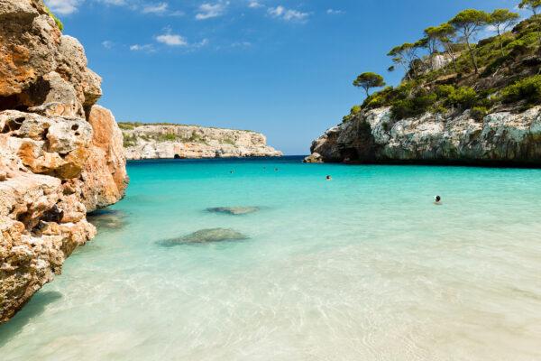 Spanien Mallorca Calo Des Moro Strand