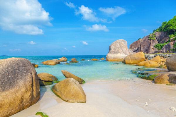 Thailand Koh Samui Küste Felsen