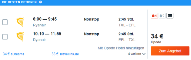 Berlin nach Kefalonia