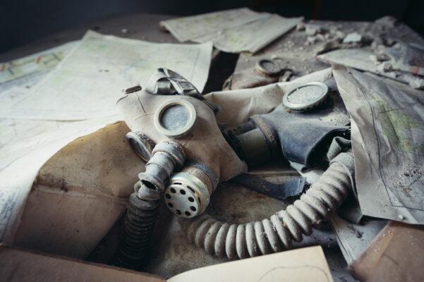 Ukarine Tschernobyl Pripyat Masken