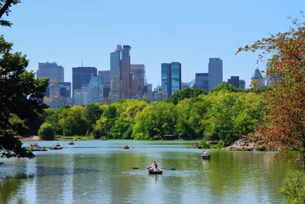 USA New York Central Park Fluss Boot