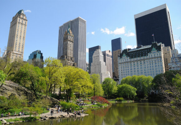 USA New York Central Park Teich